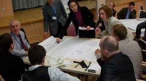 "Stakeholders discussing the framework of the ""Expert System"" in Zielona Góra, Poland, at a Timbre workshop in March 2012"
