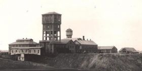 mining tower before redevelopment